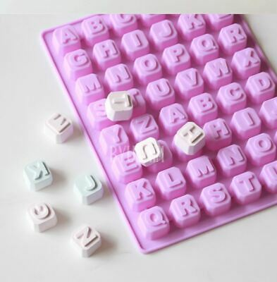 Alphabet 48 balls Silicone soap Mould plaster Mold