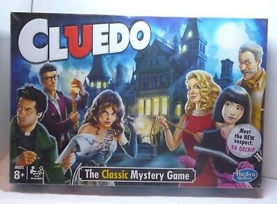 Cluedo Board Game Hasbro Gaming 2015 Version New sealed New suspect Dr Orchid