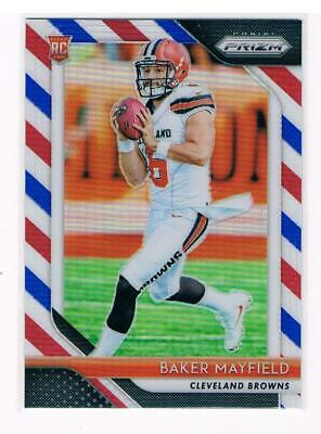 2018 Panini Prizm Baker Mayfield RC red / white / blue card #201 !!!!!!!!