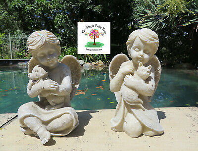 20cm Dog Cat Pet Memorial Statue - Angel holding a dog or a cat