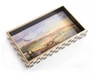 Mackenzie-Childs LANDSCAPE Aurora Hostess TRaY NeW  in Box Gr8 Gift