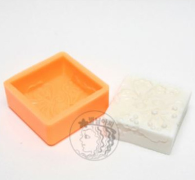 (Silicon Mould) Antique Butterfly Square Silicone soap Mould plaster Mold