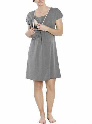 Hospital Birthing Gown/Night Dress with Nursing Access - Grey