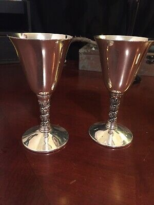 Vintage FB Rogers Silver Plated Goblets / Altar Chalices Made In Spain