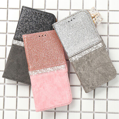 Luxury Bling Glitter Leather Wallet Case Cover For iPhone XS MAX XR X 8 7 Plus