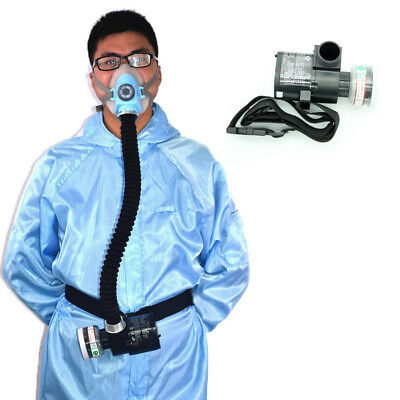 Electric Constant Flow Supplied Air Fed Half Face Gas Mask Respirator System