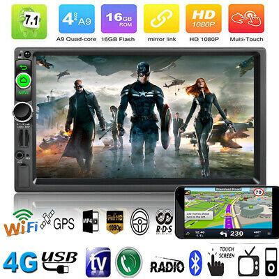 """7"""" Quad Core Android 7.1 Car Stereo MP5 Player GPS Navi RDS AM FM Radio BT WIFI"""