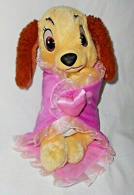 Disney Parks Babies Lady Tramp Puppy Dog Blanket Plush Stuffed Animal