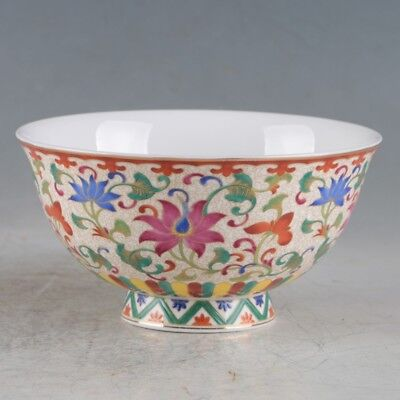China Porcelain Handmade Flowers&Peacock Bowls Made During The Qianlong Period