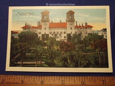 Postcard 1920s The Alcazar Hotel St Augustine Fla Nice Color EC Kropp Not Used