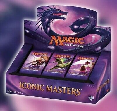 MTG ICONIC MASTERS REPACKED BOOSTER BOX 24 REPACK FOILS (mythic And Foil  Rare)