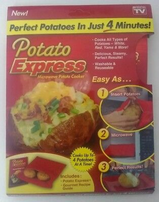 Potato Express Microwave Baked Potato Cooker Bag As Seen On TV New in package