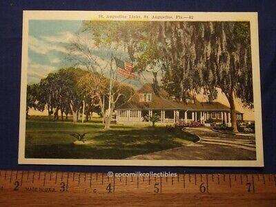 Postcard 1920s The Links St Augustine Fla Nice Color EC Kropp Not Used Golf Club
