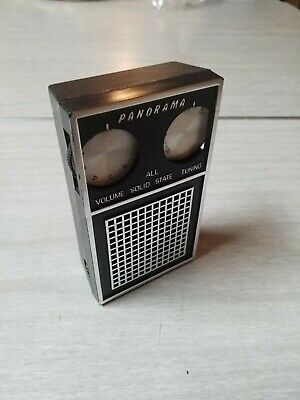 Vintage Panorama All Solid State Transister AM Radio Mid Century Portable Works