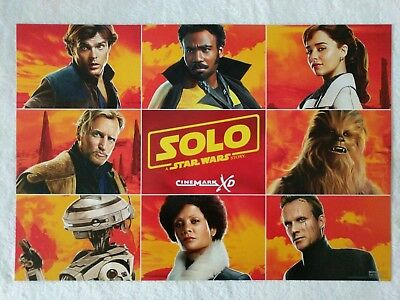 """SOLO: A STAR WARS STORY - Original Cinemark XD Promo Poster Giveaway 13""""x 19"""""""
