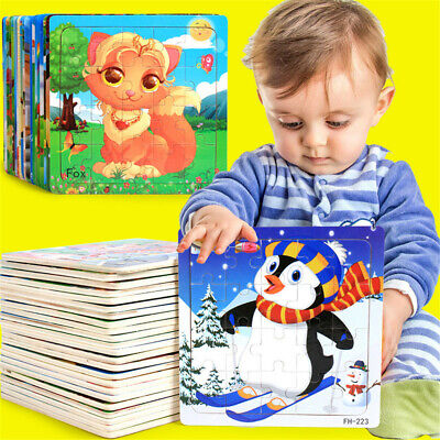 Baby Wooden Puzzle Educational Developmental Training Toys Kids' Christmas Gifts