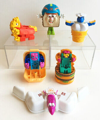 6 Vintage 1980s McDonalds Happy Meal Transformers Toy Figures Lot 1