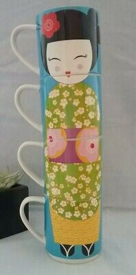 Maxwell and Williams Stackable Mugs X 4 You're A Doll Geisha