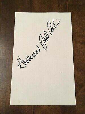 JOHN CARLIN-KANSAS-Signed/autographed PAPER-GOVERNOR