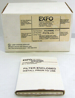 New EXFO 012-64000R 200 Watts Mercury Arc Lamp with Filter for Omnicure S2000