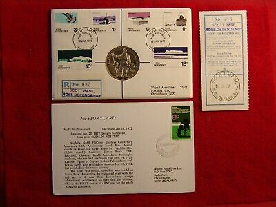 Nuphil Nu48 PNCover Scott Base, Ross Dependency, Antarctic FDC # 083 of 100 made