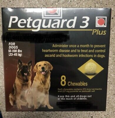 Heart gard / PetGuard 3 For Dogs / Monthly Chewable Tablet/ Exp 1/2023