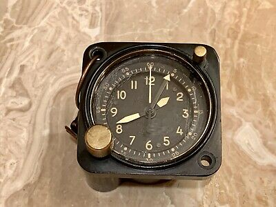 VINTAGE NOV. 1957 WALTHAM A13A MILITARY COCKPIT CLOCK W/  Hang Loop EXCELLENT!!