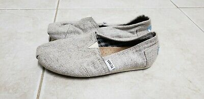 68b4b9e1871 TOMS CLASSIC MESH Canvas Slip On Shoes Womens Size 6.5 Ballet Flats ...