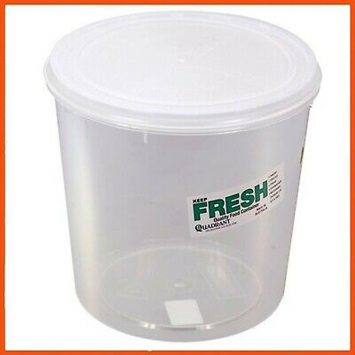 12 x PLASTIC FOOD STORAGE CONTAINERS 5.6L   Australian Made BPA Free Stackable