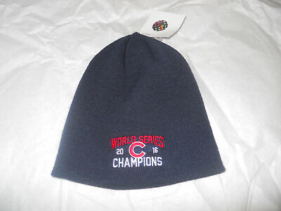 CHICAGO CUBS 2016 World Series Champions Winter Beanie Hat - Blue ... 054d44bb5e7