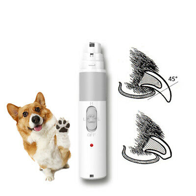 Dog Nail Grinder, Pets Electric Rechargeable Nail Trimmer Clipper for Large Dogs