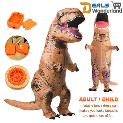 1.8/2.2M T-REX Inflatable Dinosaur Costume Fancy Dress Jurassic Blowup Outfit