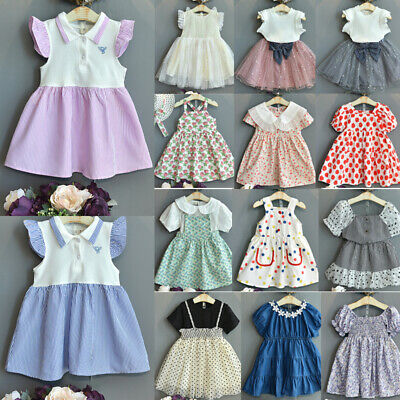 2019 Baby Girl Toddler Princess Pageant Party Tutu Dress Hearts Check  Dresses