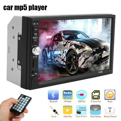 """7"""" 2DIN Touch Screen Car MP5 Player Bluetooth Stereo FM Radio USB SD MP3 In-Dash"""