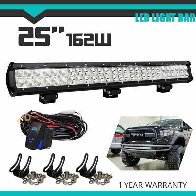 Led Light Bar Dual Row 25inch 162W Slim For Jeep Ford Hummer Toyota Driving Lamp