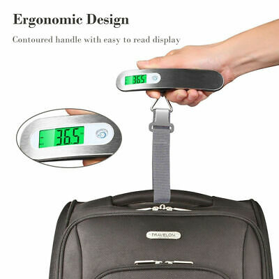 110lb / 50kg Travel Electronic Scale Portable LCD Digital Hanging Luggage Scale