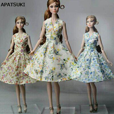 Fashion Countryside Floral Dress For Barbie Doll Clothes Gown Evening Dresses