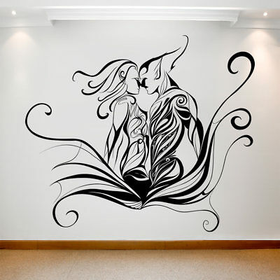 Large Wall Decal Sticker Art Removable Waterproof Vinyl Transfer Two Lovers