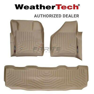 Weather Tech Floor Liner For 2008-2010 Ford F-250 Super Duty- Tan