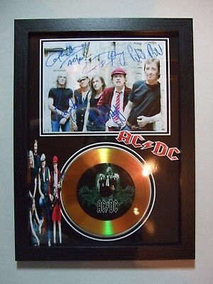 Acdc    Signed  Gold  Disc  45