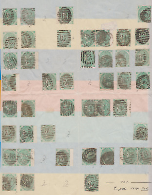 GB 1862/64 Collection Used 1/- Green 2 Pages Cat £30000