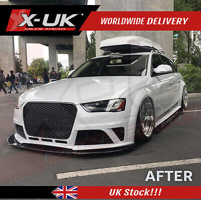 Front bumper upgrade for Audi A4 / S4 B8.5 2013-2015 with a front grill