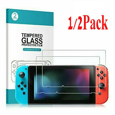 2X Premium Tempered Glass Screen Protector Guard Shield For Nintendo Switch lot