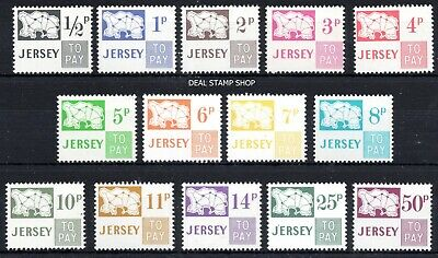 1971 - 1975 Jersey Postage Due To Pay Stamps SGD7 - SGD20 Complete Set FREEPOST