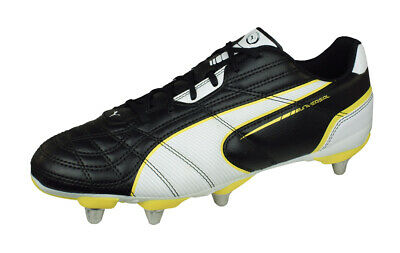 purchase cheap 0f897 7f3ee Puma Universal Rugby H8 Bottes Chaussures Rugby Hommes Terrain Gras Jaune