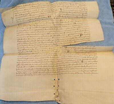 Large Medieval Vellum Document in Latin