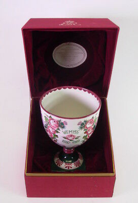 ROYAL DOULTON WEMYSS HAND PAINTED GOBLET 1880- 1980 - Queen