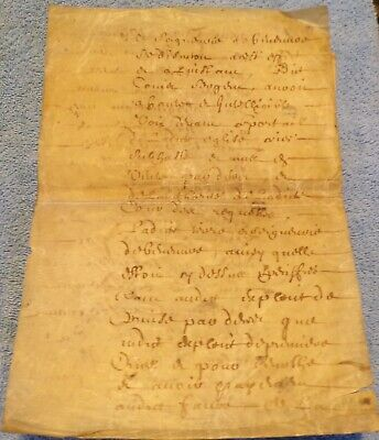Early French Vellum Document, 22 Pages
