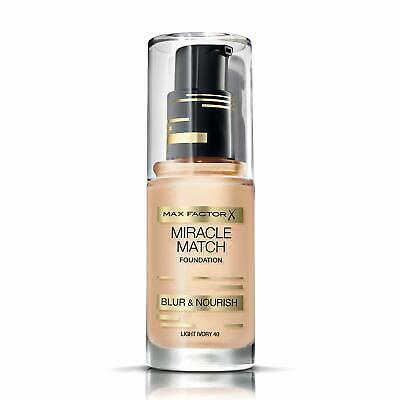 Max Factor Miracle Match Blur & Nourish Foundation - 30ML ( various shades)