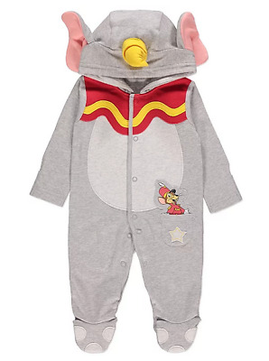 Baby Disney Dumbo Elephant Hooded Jersey All-In-One George Costume Uunisex Boys
